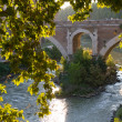 Bridge over Tiber in Rome — Stockfoto #33251329