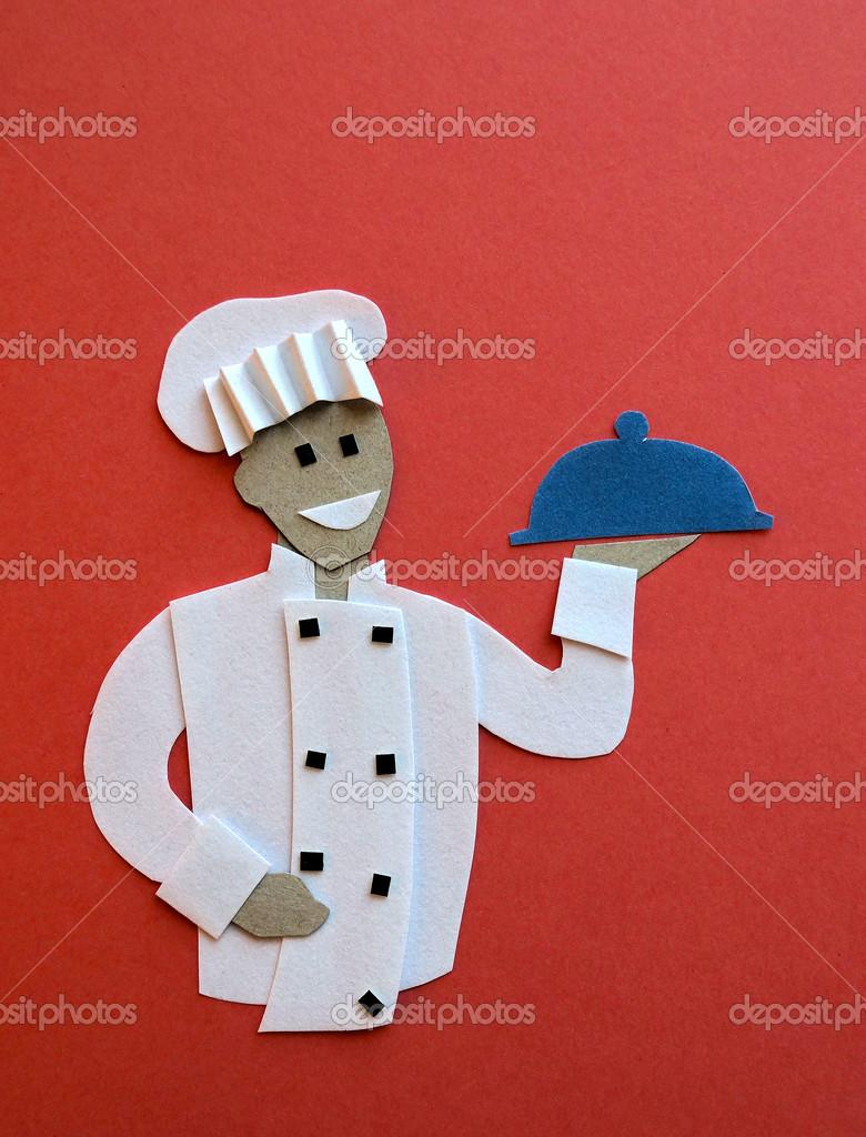 Как сделать повара с бумаги 688