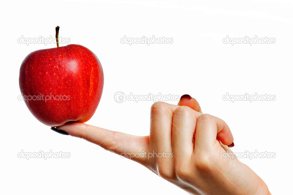 Apple hand — Stock Photo #15526921