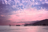 Dawn on the coast of the island of Penang, Malaysia — Stock Photo