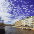 Stock Photo: Embankment of FontankRiver in Saint Petersburg