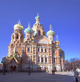Cathedral of the Resurrection of the Savior on the Spilled Blood — Stock Photo