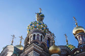 Dome Cathedral of the Resurrection in St. Petersburg — Stock Photo
