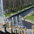Large cascading fountain in Peterhof — Stock Photo