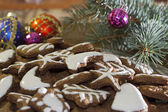 Cookies and Christmas toys — Стоковое фото