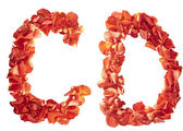 Letters of rose petals — Stock Photo
