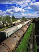 Godståg — Stockfoto