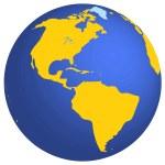 3d globe — Stock Vector #41755603