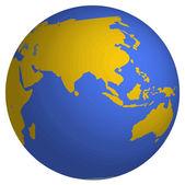 3d globe — Stock Vector