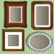 Set of frame for a photo — Stock Vector