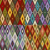 与 rhombs 的无缝纹理 — 图库矢量图片