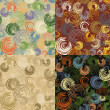 Set of seamless colorful circle pattern — Vettoriale Stock #17657033