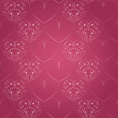Seamless pattern with hearts - vector illustration — Stock Vector