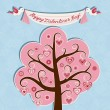 Royalty-Free Stock Vector Image: Valentine card with hearts and flowers