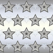 Metallic stars background - vector illustration — Stock Vector