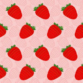 Seamless background with strawberries - vector illustration — Vecteur