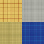 Set of seamless sacking texture - vector illustration — Stock Vector