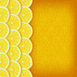Yellow background with lemon slices - vector illustration — Imagen vectorial