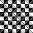 Black and white seamless geometric pattern - vector illustration — Imagens vectoriais em stock