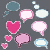 Set of speech bubbles - vector illustration — Stock Vector