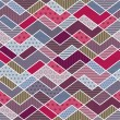Abstract geometric patchwork pattern - vector illustration - Vettoriali Stock
