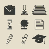 Education icons set - vector illustration — Stock Vector