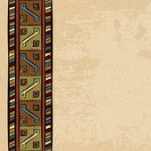 винтаж этнического происхождения рисованной бесшовные орнамент - векторные иллюстрации — Cтоковый вектор