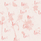 Seamless pink background with watercolor blots - vector illustration — Stockvektor