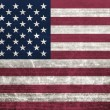 Royalty-Free Stock Photo: American flag with old fabric texture - illustration