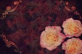 与玫瑰复古背景 — 图库照片