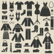 Wektor stockowy : Clothing icons