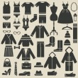Clothing icons — Stock Vector #31660743
