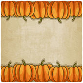 Old background with pumpkins — Stock Vector