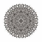 Circular lace pattern — Stock Vector