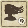 Astrological sign - virgo — Image vectorielle