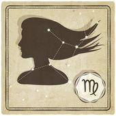 Astrologische teken - maagd — Stockvector