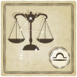 Astrological sign - libra — Image vectorielle