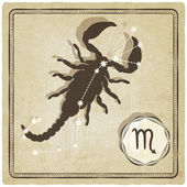Astrological sign - scorpio — Vettoriale Stock