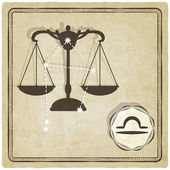 Astrological sign - libra — Vettoriale Stock