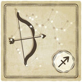 Astrological sign - sagittarius — Vettoriale Stock