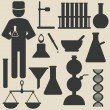 Stock Vector: Chemistry icons