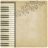 Vintage background with piano — Stock Vector