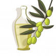 Olive branch background — Stockvektor #36771985
