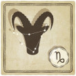 Astrological sign - capricorn — Imagen vectorial