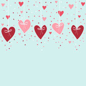 Valentine hand drawing background — Vecteur