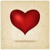 Rotes Herz alten Hintergrund — Stockvektor