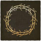 Golden branch old background — Stock Vector