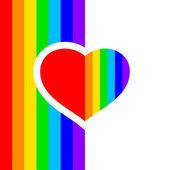 Rainbow hjärta — Stockvektor