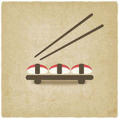 Sushi old background — Stockvektor
