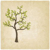 Tree old background — Stock Vector